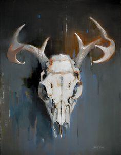 Scott Ewen / Deer Skull Still Life / 18 x 24 / oil on canvas    http://wwww.scottewen.net