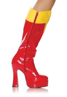 red/yellow boots