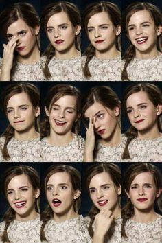 Expressions of Emma Watson* Face Drawing Reference, Human Reference, Art Reference Poses, Photo Reference, Drawing Eyes, Emotions Drawing, Poses Modelo, Facial Expressions Drawing, Face Study