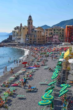 Camogli, Italy - A highlight of any visit to the Italian Riviera and one of Europe's best small town.  #travel #europe #smalltowns #italy #riviera #camogli