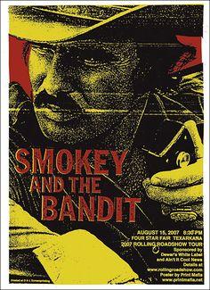 "SMOKEY AND THE BANDIT Silk Movie Poster Burt Reynolds 11/""x17/"" 24/""x36/"""