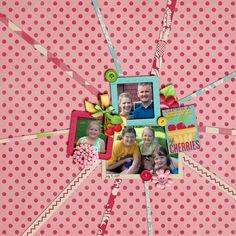 using Shabby Miss Jenn Designs Cherry Pie kit template: Scrappin' with Liz