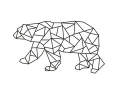 Geometric polar bear instant download digital by PrintitFrameit, $5.00
