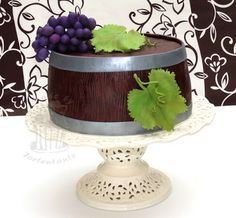 Weinfass Torte Rebe Grape Cake