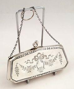 Vintage Purses, Vintage Bags, Vintage Handbags, Stylish Handbags, Fashion Handbags, Silver Purses, Hiking Bag, Vintage Accessories, Evening Bags