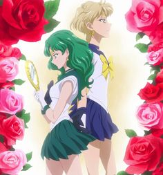 Sailor Neptune & Sailor Uranus from Sailor Moon Crystal