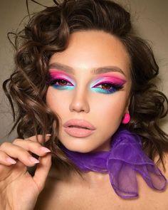 Bold Makeup Looks, Colorful Eye Makeup, Pretty Makeup, Makeup Trends, Makeup Tips, Beauty Makeup, Makeup Ideas, Rave Makeup, Eye Makeup Designs