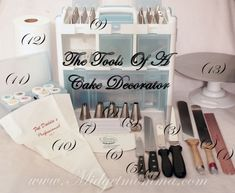 Tools Needed for Decorating Cakes like a professional http://www.midgetmomma.com/?p=58492