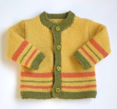 Hand knitted baby cardigan. Unisex boy/ girl by MaiesCreations