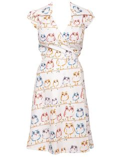 Owl Print Dress clothes-and-more Owl Dress, Dress Up, Pretty Outfits, Cute Outfits, Pretty Clothes, Owl Clothes, Dress Clothes, Owl Print, Types Of Dresses