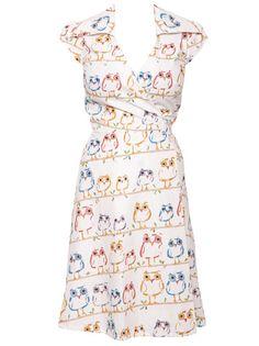Owl Print Dress by MyOwlBarn, via Flickr. ADORE! ♥