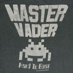 Master Vader. Vintage Space Invaders tee.