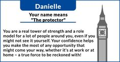 "My name means ""the protector"". What does your name really mean?"