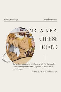 Our Mr & Mrs Cheese Board makes an ideal present for weddings, bridal showers gifts for the bride, Christmas gifts for couples who have everything, engagements, house warming presents for new home & anniversary. This complete bundle comes in elegant packaging along with a bow. No gift wrap needed! We have included a carefully curated 20+snack board ideas perfect for any date night and a bonus Best Wishes Card at no extra cost!