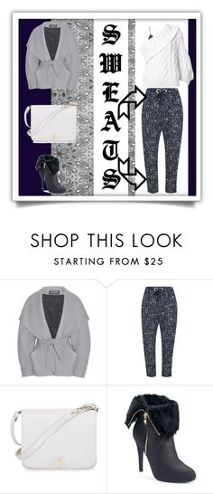 """""""#ClassySweats"""" by ghadalog ❤ liked on Polyvore featuring Balmain, The Fifth Label, Furla, Jennifer Lopez, Rosie Assoulin, lazy, classy and seats"""