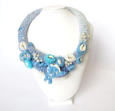 Colier Crosetat True Blue + Cercei Cadou