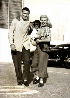 Cary Grant and Ginger Rogers on the set of Monkey Business!
