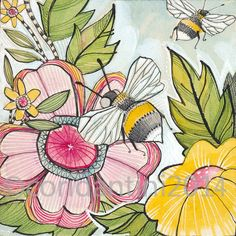 the title of this piece is busy bee  ................................................................