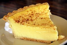 Custard Pie. It is my all time favorite. The following recipe is Grandma's. In my opinion, it is the best pie in the world. Hope you try it. you won't be sorry. Repin to share with your friends. Love Custard Pie!!!!
