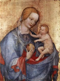 UNKNOWN MASTER, German: Virgin and Child  (1400-25, canvas on lime panel, 43,9 x 33,8 cm, Alte Pinakothek, Munich)
