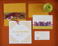 Yellow Submarine/Beatles-Inspired wedding invitations from Willis Design Studios