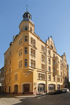Riga - Arhitekts Vilhelms Bokslafs, 1903. Rental building with shops, Jauniela 25/29 © Riga Art Nouveau Centre
