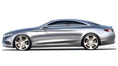 2015 Mercedes S Class Coupe design sketch 2