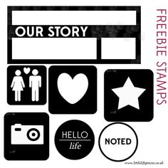 Project Life Download- Free stamps! Super cute to add to a photo