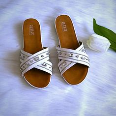 Beautiful Sandals With Rhinestones. New Brand New Sandals Never Worn.  Size 7. Smoke and pet free household.  Have a blessed day. Shoes Sandals