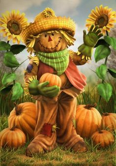 Fall Scarecrow' by Christopher