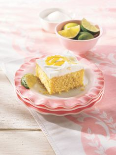 Mangoes plus margarita mix make this tropical cake both creamy and dreamy. Can't find mango yogurt? Swap it out for peach!