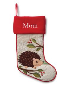 Loving this Forest Friend Hedgehog Personalized Stocking on #zulily! #zulilyfinds