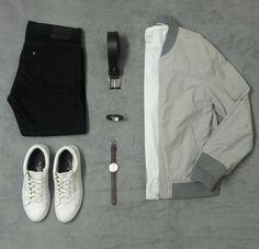 Jeans H&M, bomber Clockhouse, t-shirt SW states , sneakers Jack Jones