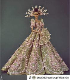 mazing with ・・・ It's Philippine Independence Week To Celebrate my beloved country's Barbie Gowns, Barbie Dress, Barbie Clothes, Fashion Royalty Dolls, Fashion Dolls, Burlesque, Dress Dior, Modern Filipiniana Dress, Barbie Costume