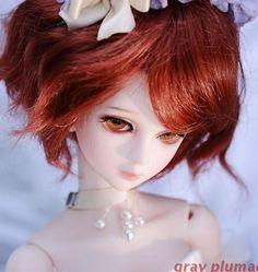 Rosemary-2 Gray Plumage 1/4 girl SUPER DOLLFIE MSD size bjd doll #greyplumage