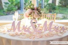 Mr. And Mrs. Head/Sweetheart table. Photo by: Moments Wedding Photography