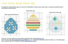 Easter egg Pattern for cross stitch and hama beads, multi-coloured Easter eggs to emborider onto table runner and place mats, many designs online for free. Embroidery Patterns, Cross Stitch Patterns, Easter Egg Pattern, Coloring Easter Eggs, Hama Beads, Super, Children, Google, Games For Kids