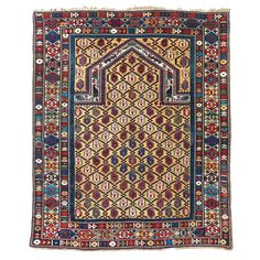 Caucasian Marasali Prayer Rug | From a unique collection of antique and modern caucasian rugs at https://www.1stdibs.com/furniture/rugs-carpets/caucasian-rugs/