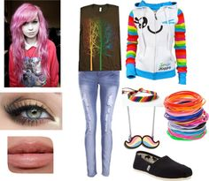 """Emo outfit #5"" by teresa-warhell ❤ liked on Polyvore"