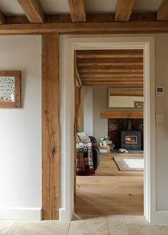 Border oak, hall way to living room