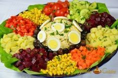 Appetitzer entrance per table Appetizer Recipes, Salad Recipes, Salad Buffet, Moroccan Salad, Big Salad, Warm Food, Fruit And Veg, Food Videos, Food Inspiration