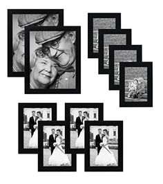 Multi Pack Black Picture Frame Value Set Set of 10 Picture Frames Two Inches Four Inches Four Inches Glass front on each frame Hanging Hardware Included ** Check out this great product. (This is an affiliate link and I receive a commission for the sales) Hanging Picture Frames, Black Picture Frames, Picture Frame Sets, 10 Picture, Hanging Pictures, Frames On Wall, Black Frames, Arts And Crafts Supplies, Home Wall Decor