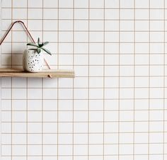 24 x 48 Grid Removable wall paper tile Wall