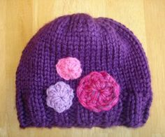 The Her Royal Highness Hat is a free knitting pattern you won't be able to get enough of. Add your own floral details to create a unique children's hat for your little girl.