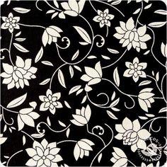 Tecido Luxúria Floral - Preto
