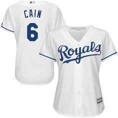 8bbc2b4c4 Lorenzo Cain Kansas City Royals Majestic Women s Cool Base Player Jersey -  White Virtual Closet