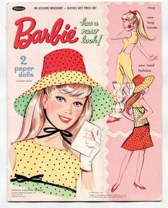 Vintage Whitman/Mattel Barbie paper dolls 1967