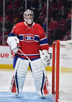 MONTREAL, QC - JANUARY Carey Price of the Montreal Canadiens during the NHL game against the Pittsburgh Penguins at the Bell Centre on January 2017 in Montreal, Quebec, Canada. (Photo by Francois Lacasse/NHLI via Getty Images) Montreal Canadiens, Montreal Quebec, Hockey Goalie, Ice Hockey, Nhl Games, Nfl Fans, National Hockey League, Pittsburgh Penguins, Centre