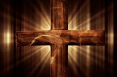 A worship video background featuring a glowing wooden cross with animated light streaks in the backdrop. #Sharefaith