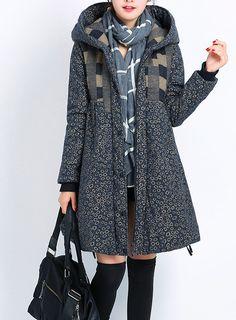 Frauen-Winter-mit Kapuze verdicken Mantel von Fashion Lady auf DaWanda.com